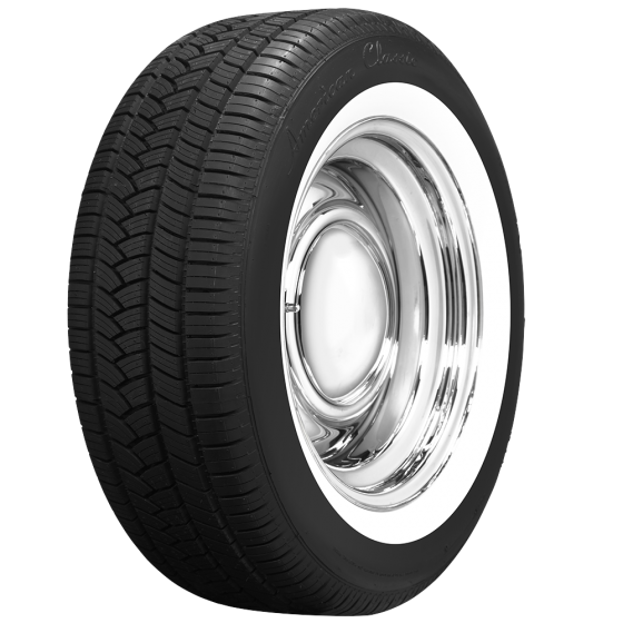 American Classic Radial   1 3/4 Inch Whitewall Tire   235/55R17