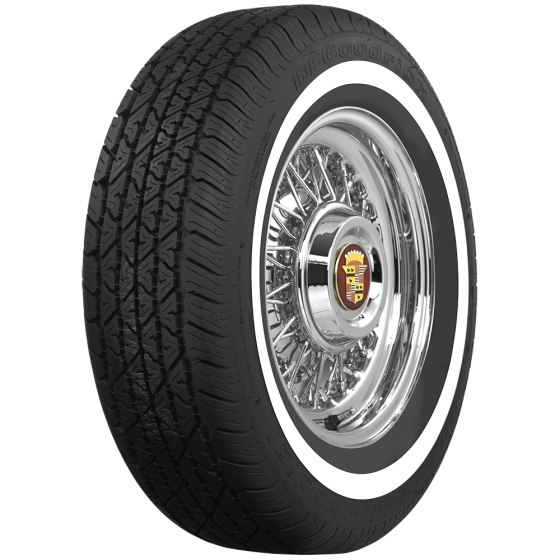 BF Goodrich Radial | 1 1/2 Inch Whitewall | 225/70R15