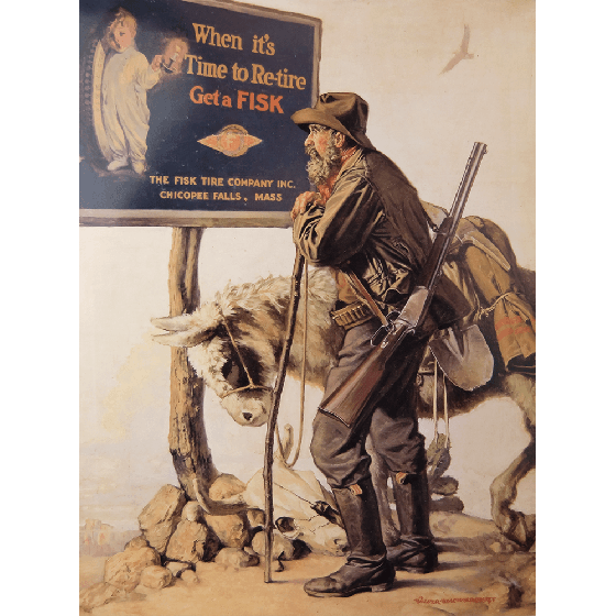 Poster | Fisk | Man with Mule