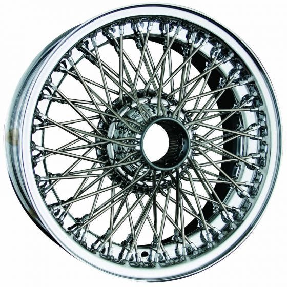 Dayton Wire Wheel-Aston-Martin-DB2, DB3, DB4, DBS-Tube Type-16x5-72-Chrome