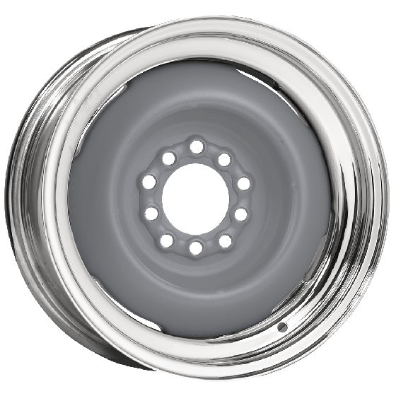 Hot Rod Steel Wheel | Primer Center / Chrome outer