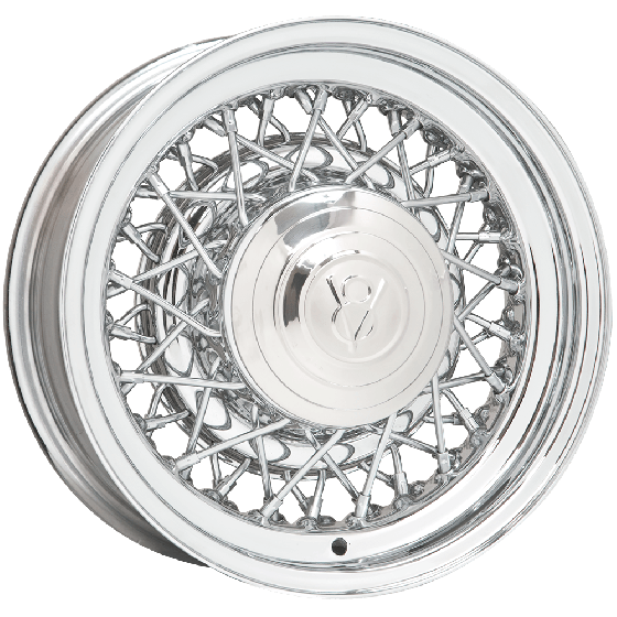 16x7 Hot Rod Wire Wheel | 5x5.5 bolt | Chrome | Discontinued