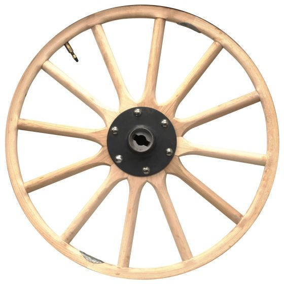Wood Wheel UP TO 27""