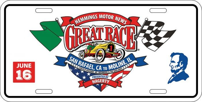 2016 Great Race | License Tag