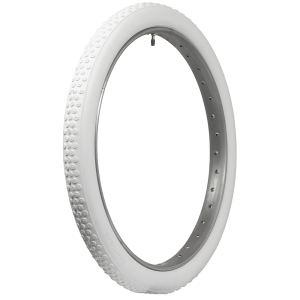 Coker Classic Cycle | All White Button Tread | 28x2 1/2