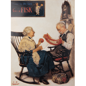 Poster | Fisk | Couple with Yarn