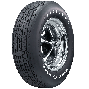 Firestone Wide Oval Radial | Raised White Letter