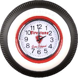 Clock | Vintage Firestone | Lighted