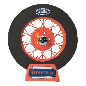 Spare Tire Cover | 30 Inch | Ford Logo (Black)