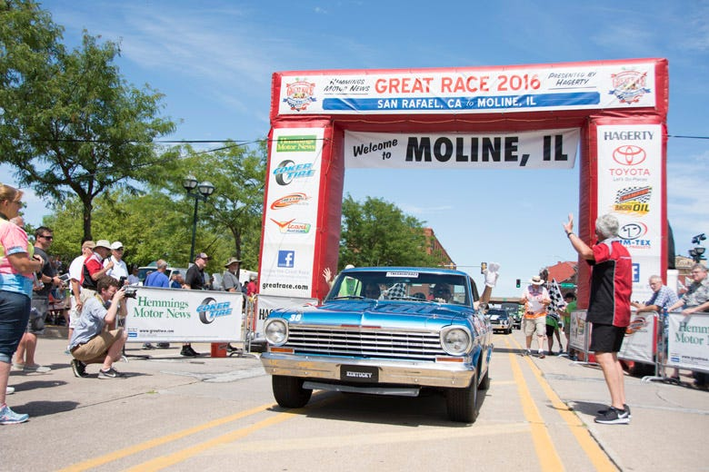 Cedar Rapids, Iowa to Moline, IL--Day 9 of the Great Race