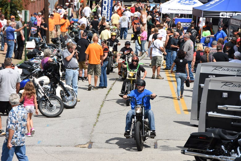 The Hot Bike Tour Packs the Streets Around Coker Tire
