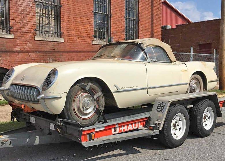 "Epic 1954 Corvette ""Barn Find"" Visits Coker Tire"