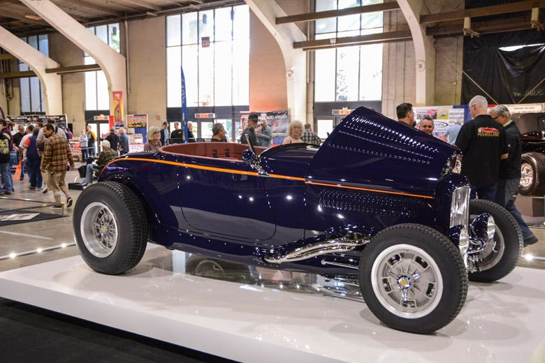 America's Most Beautiful Roadster Rolls with Coker!
