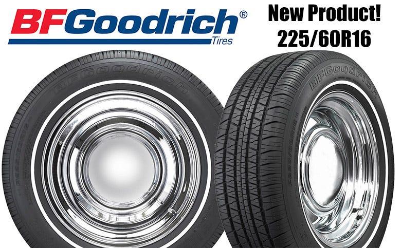 New BF Goodrich 225/60R16 Whitewall Tire